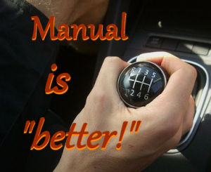 manual is better