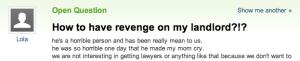 revenge on my landlord