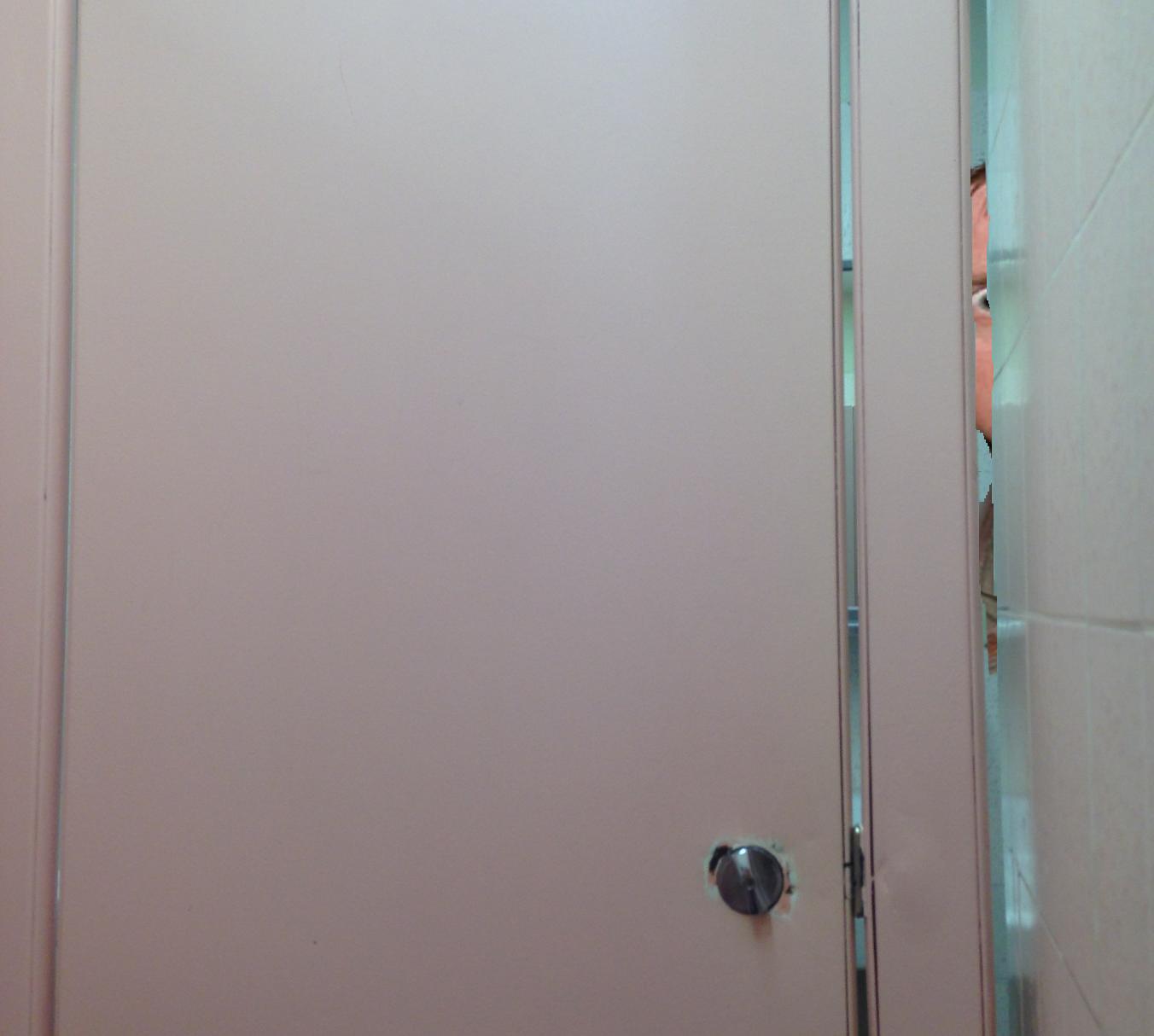 bathroom gap - Bathroom Stall Door