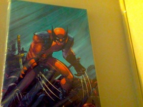 Young man's Wolverine poster really ties room together