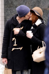 Emma Stone and Andrew Garfield engage in some PDA as they go for a romantic stroll in New York City