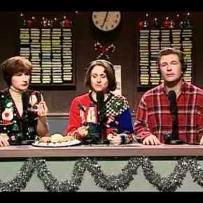 Family Pretty Sure Dad Pretending to be Asleep During Risqué Sketches on SNL ChristmasSpecial