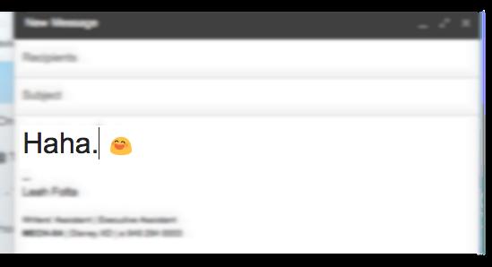 Haha email