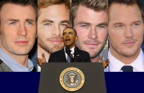 Obama Announces Hollywood Will Run On Renewable Blond Chris-es by 2022