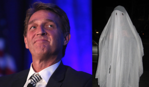 Jeff Flake Forgoes Homemade Ghost Costume Under Which He's Been Criticizing Trump For Months